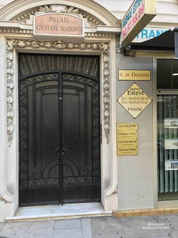 Porte du cabinet E Pardo Nice