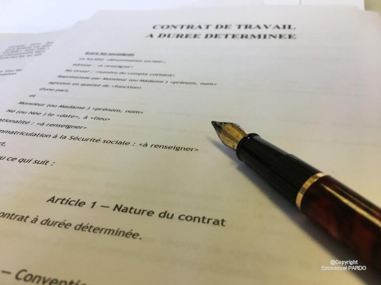 Contrat de travail à durée determinee | CDD