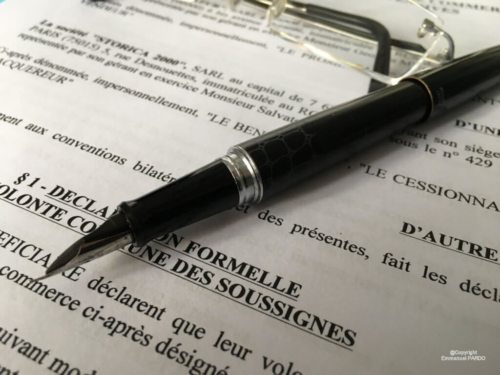 Mentions obligatoires de l'acte de vente d'un fonds de commerce