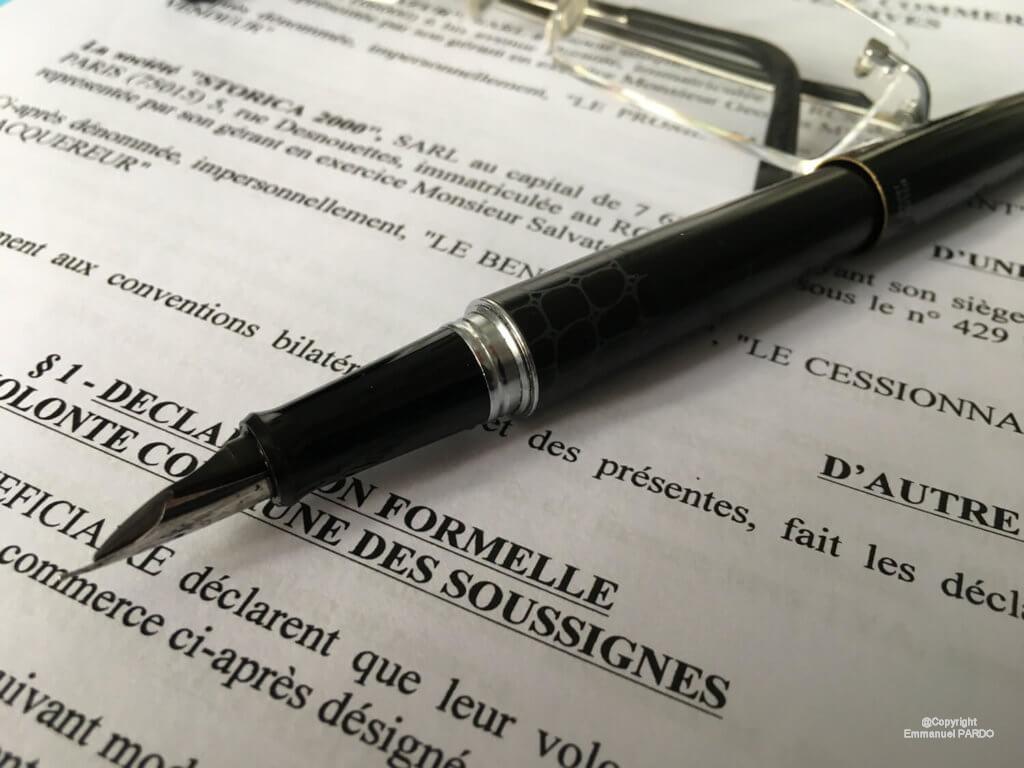 Mentions obligatoires de l'acte de vente d'un fonds de commerce