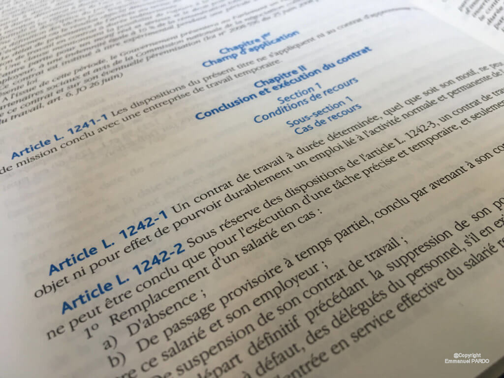 Requalification du contrat à duree déterminée